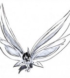 Cute Small Fairy Shaped Tattoo Design Sketch