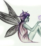 Beautiful Fairy Tattoo Design Sketch