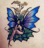 Bright Fairy Shaped Tattoo Design Picture