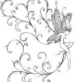 Small Fairy Tattoo Meaning Design Sketch