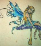 Sweet Tinkerbell Fairy Shaped Tattoo Design
