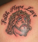 Faith Hope Love Lettering Tattoo - Faith Tattoos Design