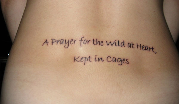 Impressive Short Faith Quotes For Lower Back Tattoos