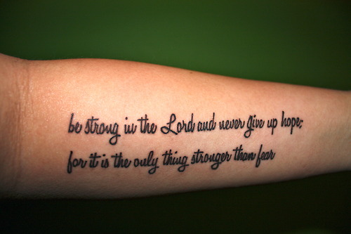Unique Forearm Tattoos – Faith Quotes Tattoo