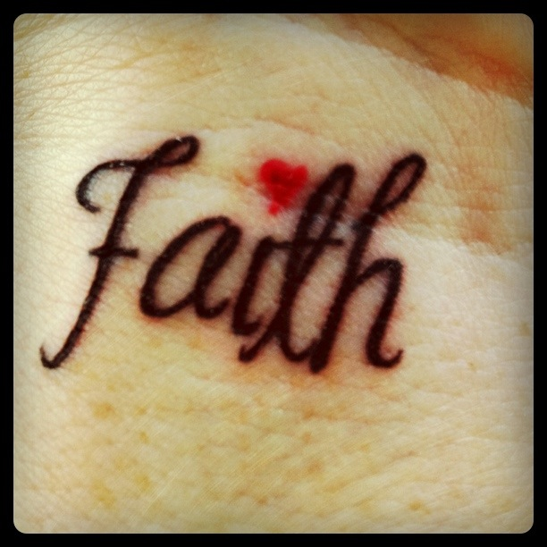 Simply and Short Tattoo – Faith Quotes Tattoo