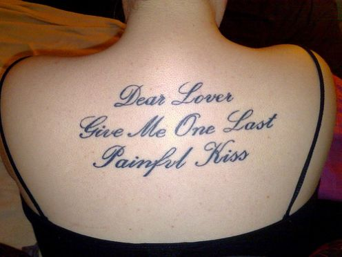 Back Tattoo Ideas – Lettering Quote Tattoos