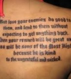 Bible Quote Phrase Tattoos Design Ideas for Women