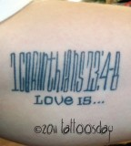 Bible Verse Tattoo from