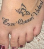Inspiring Latin Quote Tattoos For Girls Feet