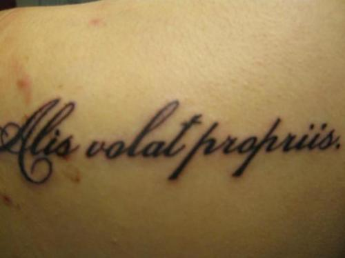 Popular Latin Phrase Tattoos Idea