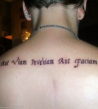 Girls Upper Back Tattoo Ideas About Latin Words