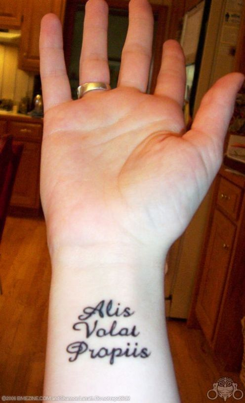 On Wrist Latin Words Phrases Tattoo Ideas