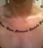 Precious Neckling Latin Phrases Tattoo