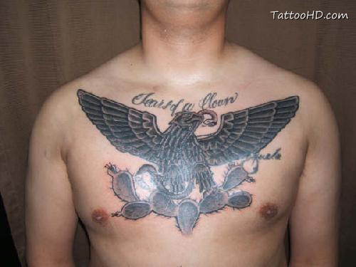 Latin Words Tattoos With Eagle