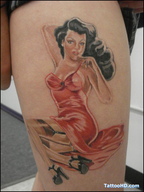 Fat Girls Pinup Tattoos Picture