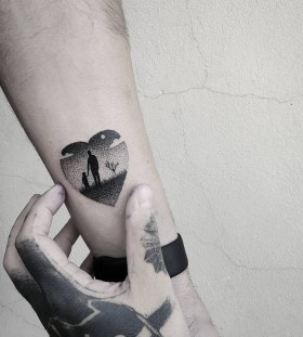 fathers-and-daughters-minimal-tattoo-by-matteonangeroni