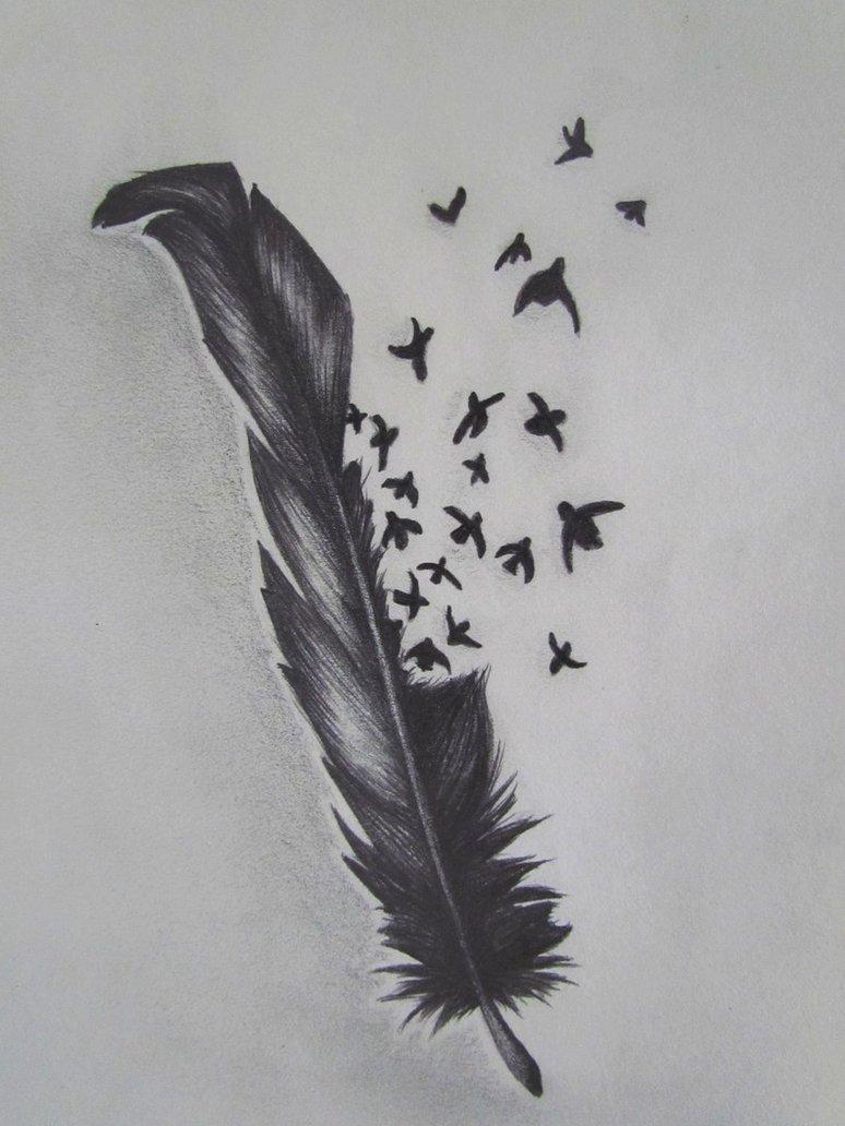 2f0bbd69e Marvelous Bird Crow Feather Tattoo Designs - | TattooMagz › Tattoo ...
