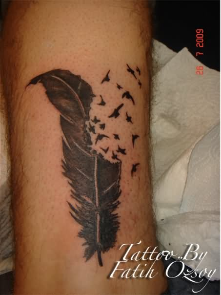 Months Ago Inkage Tattoo Feather Birds Tattoo