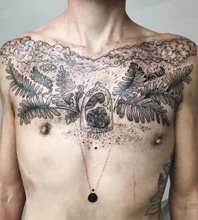fern-chest-tattoo-by-freeorgy