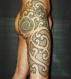 Filipino and Japanese Body Tribal Tattoo Design for Men (NSFW)