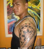 Immortal Filipino Tribal Shoulder Tattoo for Cool Men