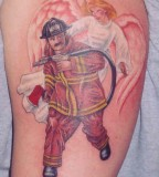 Fire Man And Angel Tattoo Pictures