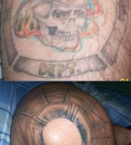 Skull And Firefighter Tattoo Ideas