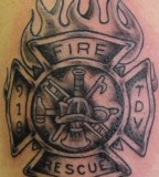 Charming Firefighter Tattoos Pictures And Images