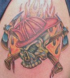 Skull Firefightertattoo Pictures Tattoo Images