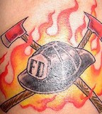 Awesome Tattoo Firefighter Tattoos