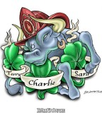 See More Bull Irish And Firefighter Tattoo Designs