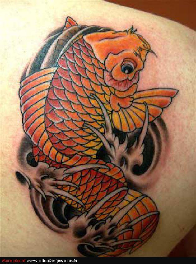 Simple Tattoo Design Of Koi For Man