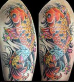 Elegan Tatto Design Of Koi Tattoos For Man
