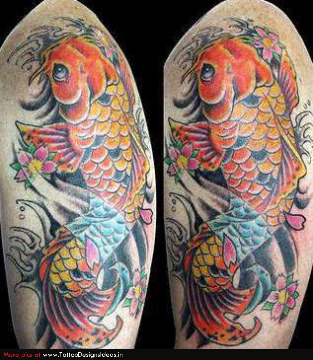 Elegan Tatto Design Of Koi Tattoos For Man