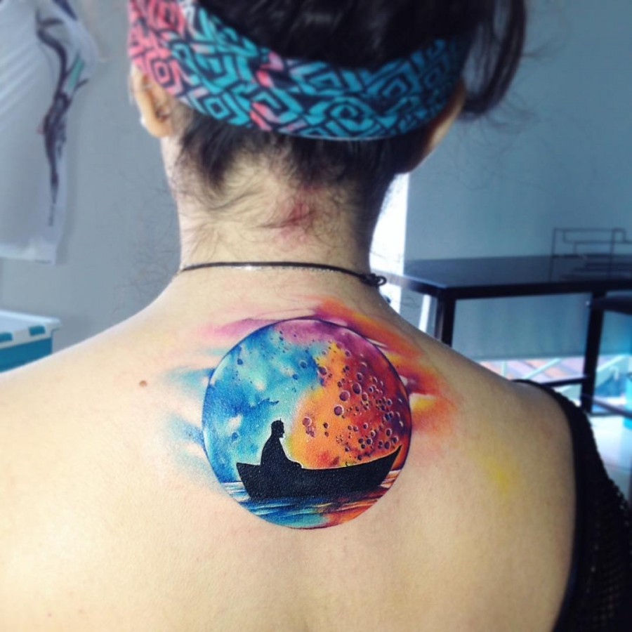 fisherman-moon-watercolor-tattoo