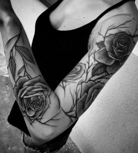 floral-sleeve-tattoo-by-inee