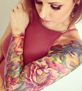 floral-sleeve-tattoo-by-liannemoule