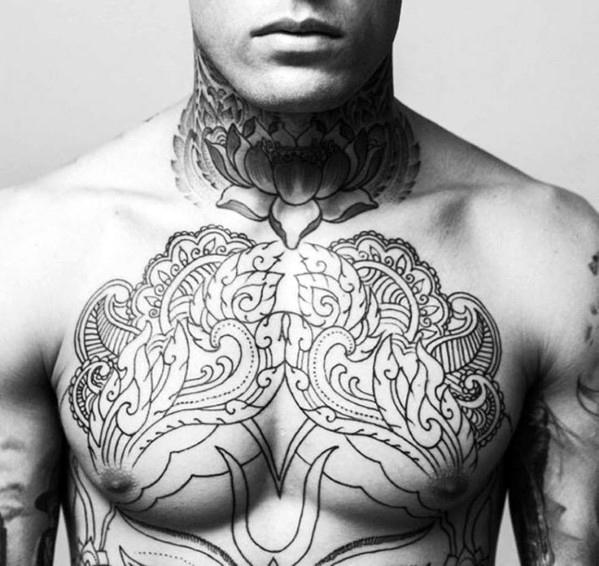 floral tattoos for men