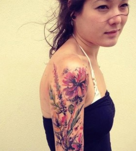 flower-sleeve-tattoo-by-tattrx