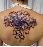 Female Beautiful Flower Tattoo Picture