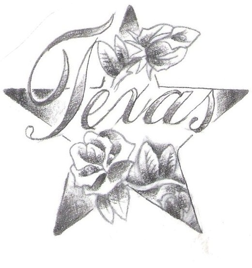 Star Flower Drawing Star Tattoo Design – Sketch