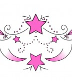 Pink Star Swirl Tattoo  Sketch