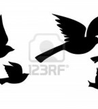 Amazing Picture Of Flying Bird Silhouette Tattoo Design