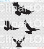 Attractive Birds In Flight Clipart Art Tattoo Design