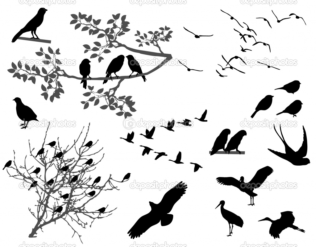 silhouette birds designs images