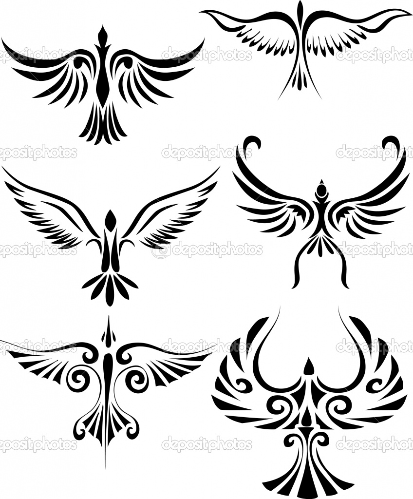 Fabulous Bird Tribal Tattoo Design Inspiration