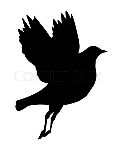 Inspired Vector Illustration Of Flying Birds Silhouette Tattoo
