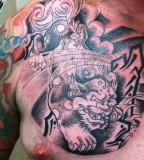 Wonderful Foo Dog Tattoo Designs