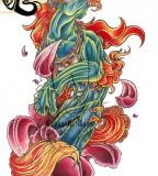 Another Foo Dog Fantasy Art Tattoo