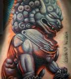 3D Foo Dog Tattoo Design